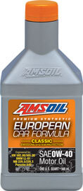AMSOIL European Car Formula 0W-40 Classic ESP Synthetic Motor Oil